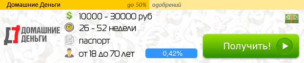 """Микрозайм от """"Домашние Деньги"""""""