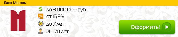 Кредит от Банка Москвы